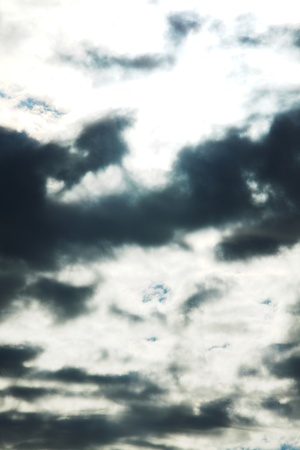 cloudy dark sky close background Stock Photo - 9862569