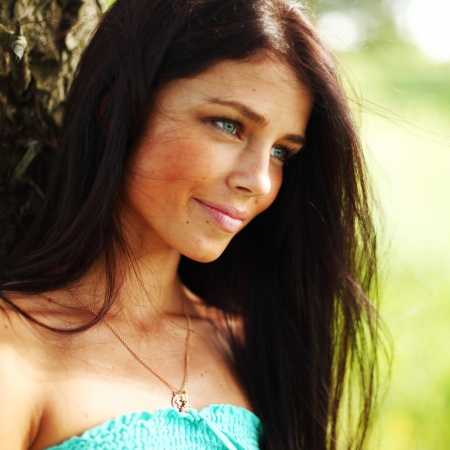 woman in forest close up portrait Stock Photo - 9855696