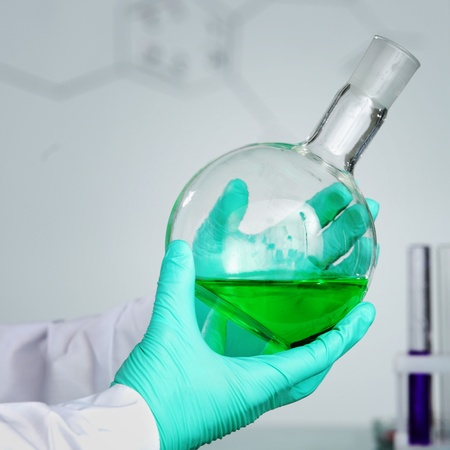 chemical experiment macro close up Stock Photo - 9906767