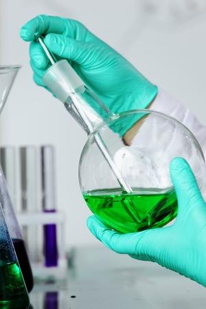 chemical experiment macro close up Stock Photo - 9906861