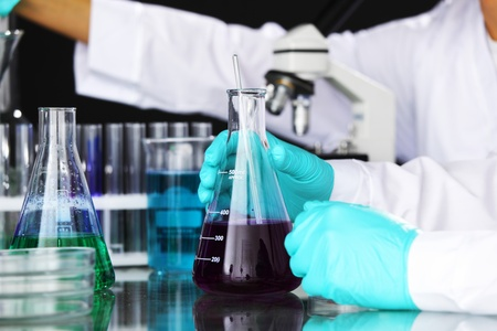 chemical experiment macro close up Stock Photo - 9906885