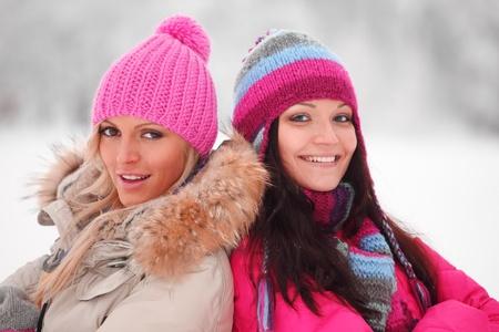 winter women close up portrait photo
