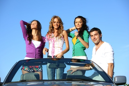 funey friends in dance car photo