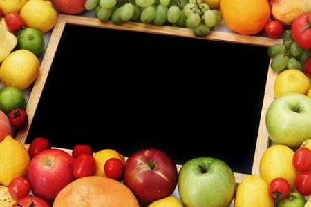 desk in big fruit pile Stock Photo - 9961972