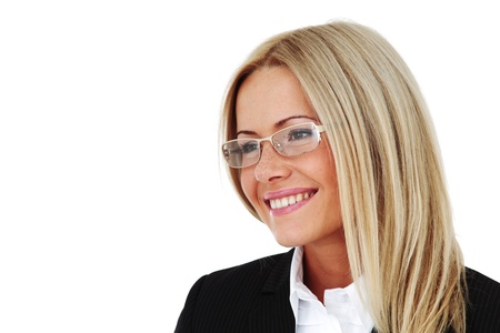 business woman portrait isolated close up Stock Photo - 9961660