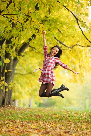 autumn woman portret in park Stock Photo - 9955909