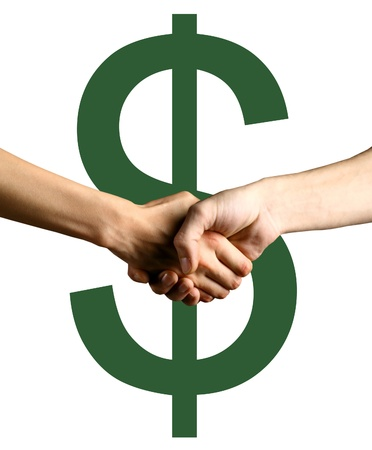 good deal: handshake green dollars have a realy good deal