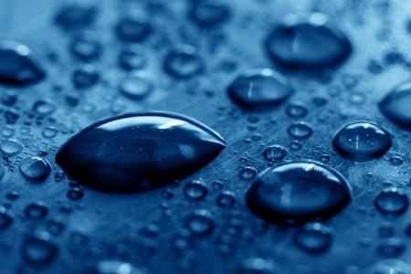 clean blue waterdrops macro background Stock Photo