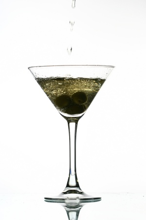 martini splash: martini splash on white bar background