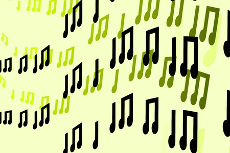 conservatory: 3d Notes abstract music background