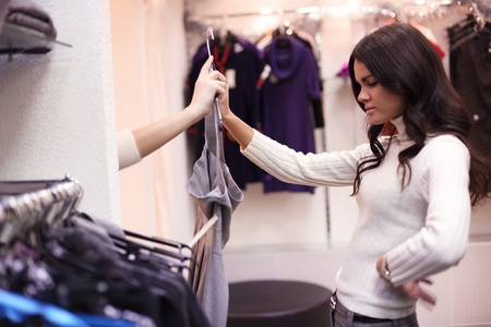 woman in dress room wear dress photo