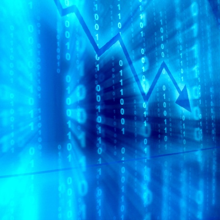 blue data space abstract financial background photo