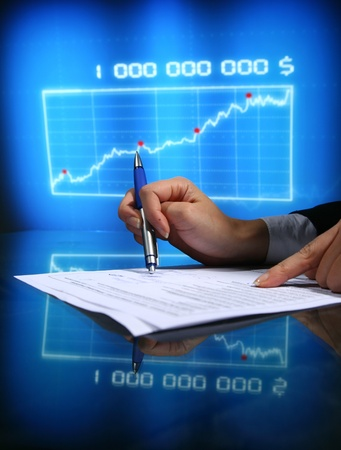 financial seminar professional business background photo