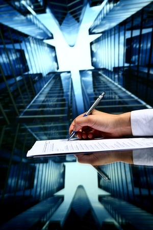 sky scrapers:  professional presentation business background Stock Photo