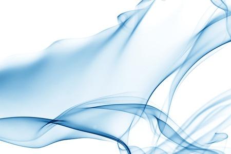 smoke effect: blue smoke on white background
