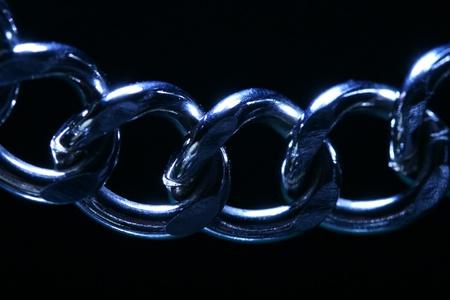 severed: steel chain macro close up Stock Photo