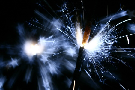 sparkler fire macro background close up Stock Photo - 10001969