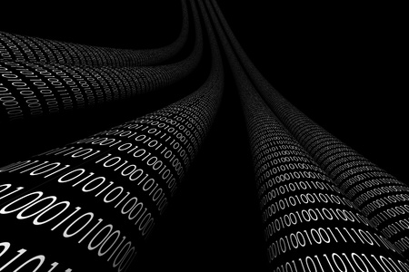 cyberspace: 3d data abstract cyberspace background Stock Photo