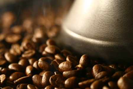let out: coffee beans Grains of coffee let out aroma and smells drawing of attention