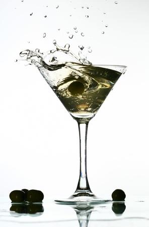 bartend: alcohol martini splash mixed cocktail Stock Photo