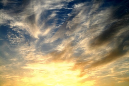 sunset sky beautiful nature background Stock Photo - 10021560