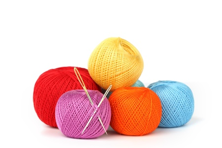 weave ball: thread isolated on white background