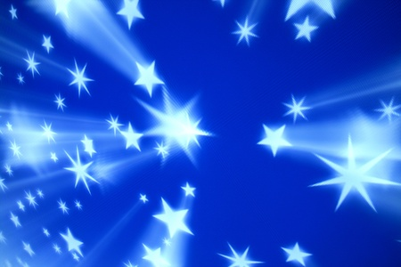 blue tech stars abstract background photo
