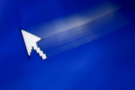 cursor arrow in move abstract background photo