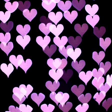 brilliant colors: bokeh hearts background abstract macro Stock Photo