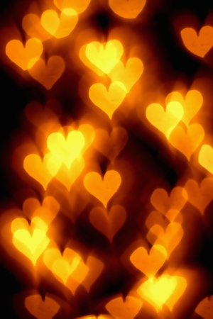 bokeh hearts background abstract macro Stock Photo - 10098862
