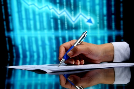 financial seminar professional business background Stock Photo - 10107574