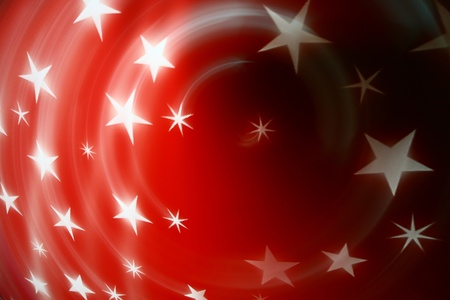 red christmas stars abstract background photo