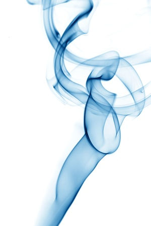 blue smoke on white background Stock Photo - 10098534