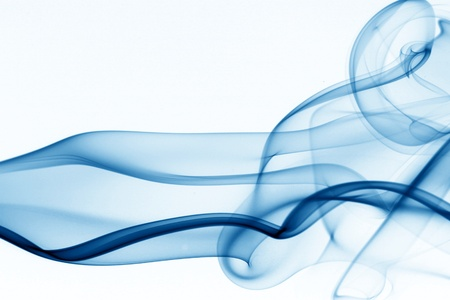 blue smoke on white background Stock Photo - 10098758