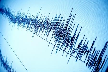communicatie: sound audio golf abstracte achtergrond Stockfoto