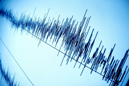 analogs: sound audio wave abstract background