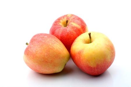three apple isolated on white background Stock Photo - 10098863