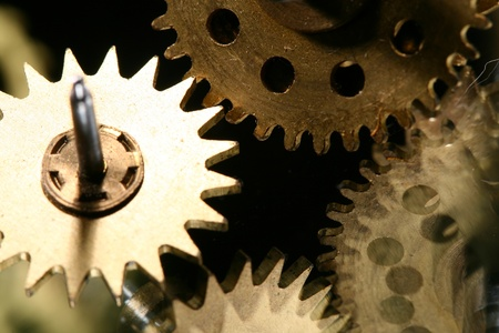 macro mechanical gear background close up Stock Photo - 10107924