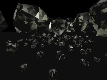 3d diamonds black macro big angrie Stock Photo - 10136334