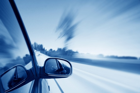 high view: speed drive blurred transportation background