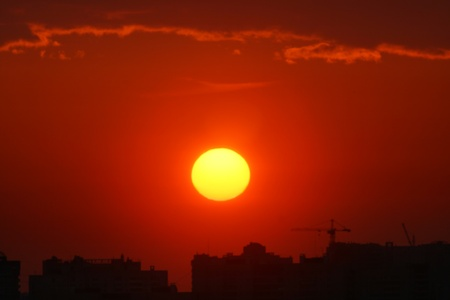 urbanscape: golden sunset city outdoor urbanscape