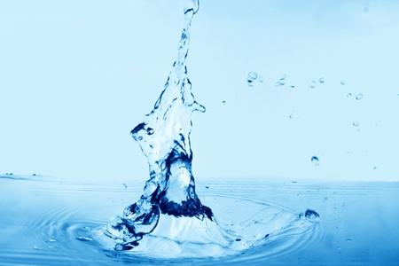 blue clean beauty water splash photo