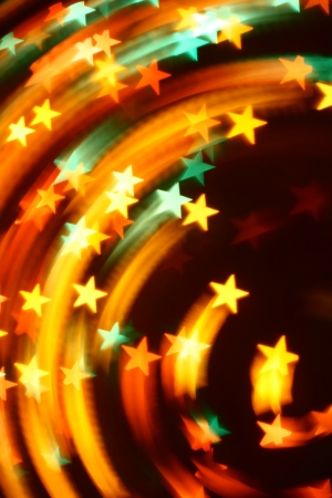 colorful lights: abstract disco  colored stars motion background