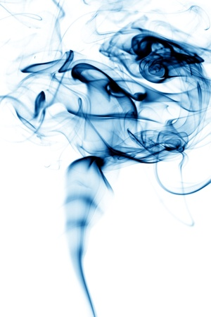 air flow: blue smoke abstract background close up