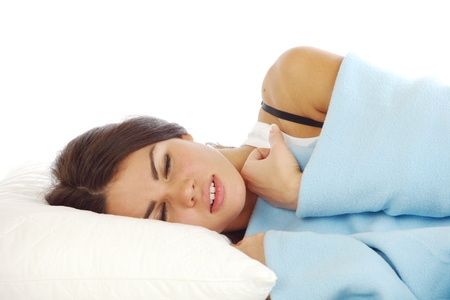 beauty woman sleep on the pillow Stock Photo - 10163964