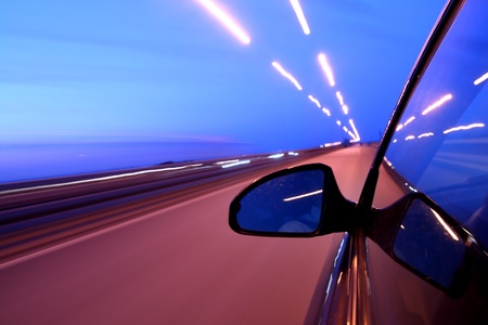 speed car on highway motion blurred Stock Photo - 10171304
