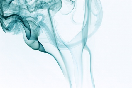 smoke effect: blue smoke natural abstract backgrounds Stock Photo