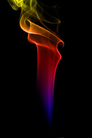 multicolored smoke natural abstract background photo