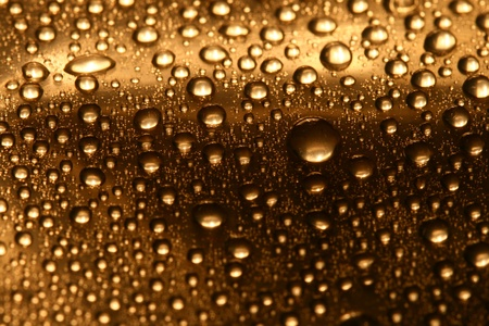 sprinkling: clean shiny waterdrops macro background Stock Photo