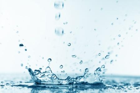 water sink: blue water splash nature background